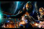 Battle on planet Earth orbit