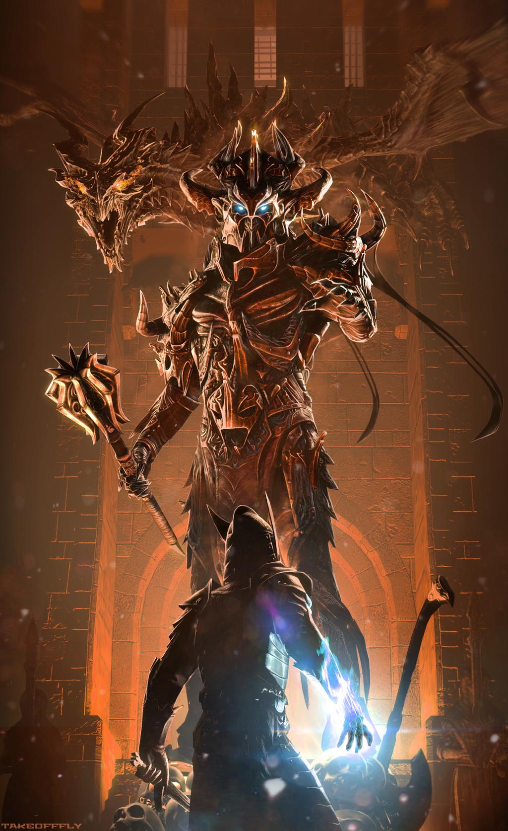 Galeria de Arte: Ficção & Fantasia 1 - Página 4 Lord_of_the_dragons_by_takeofffly-d7wsdqz