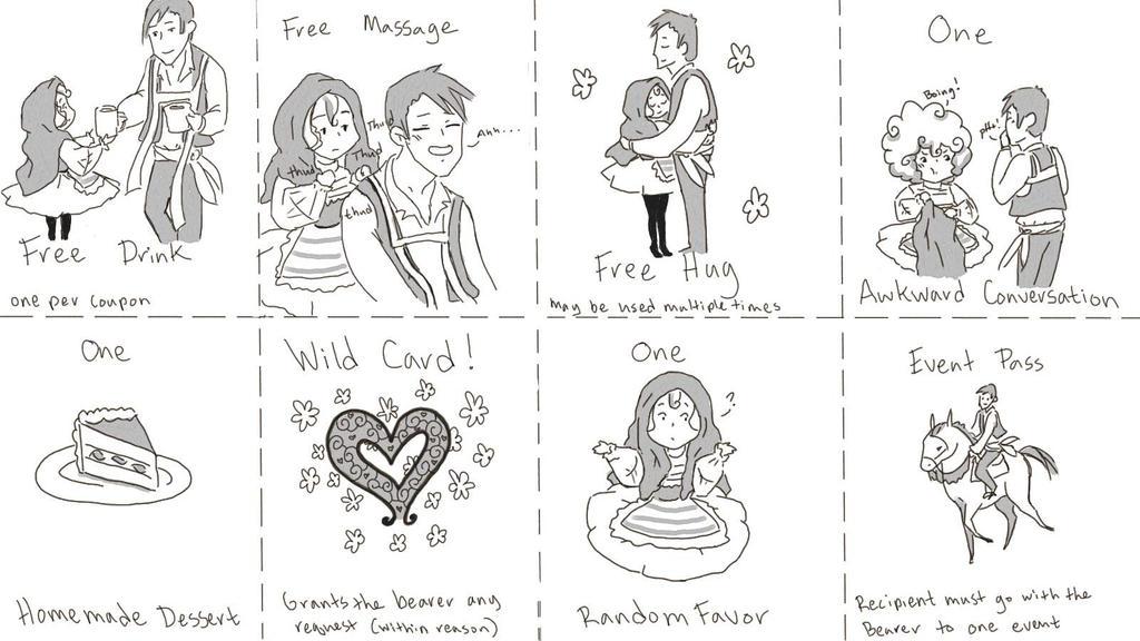 Valentines Coupons by StacheRabbit