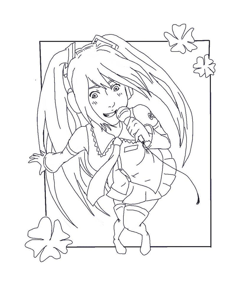 hatsune miku coloring pages - photo #31