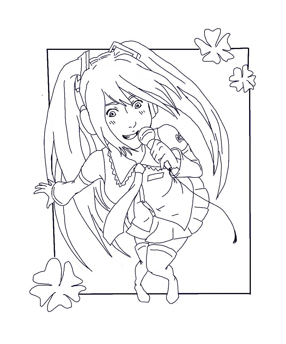 miku coloring pages - hatsune miku coloring page by stacherabbit on deviantart
