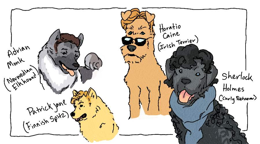 If TV Dectectives Were Dogs by StacheRabbit