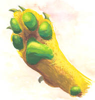A Green and Yellow Paw by costa-geablader