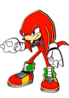 Knuckles the echidna SA style by WaitoChan