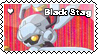 Black stag fan stamp by Waito-chan