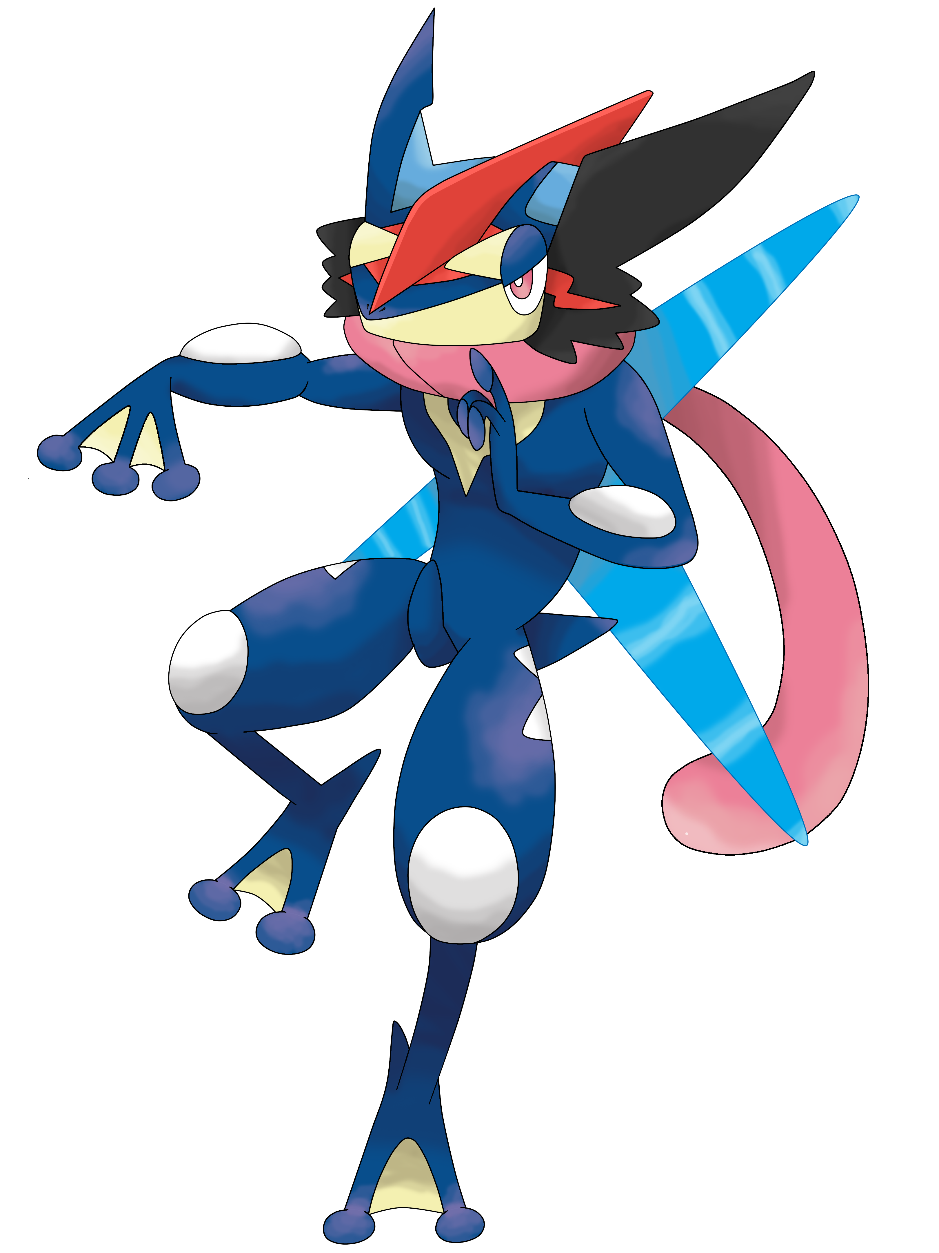 Greninja ash by waito chan on deviantart for Coloring pages of greninja