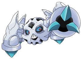 Pokemon Fusion: Glalie and Metagross by WaitoChan