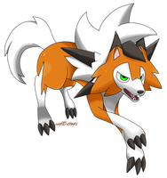 Lycanroc Dusk Form by WaitoChan
