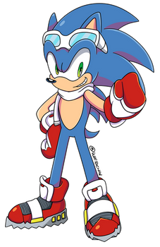 Sonic in Winter Clothes