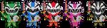 Ryusoulger Chibis 1 by WaitoChan
