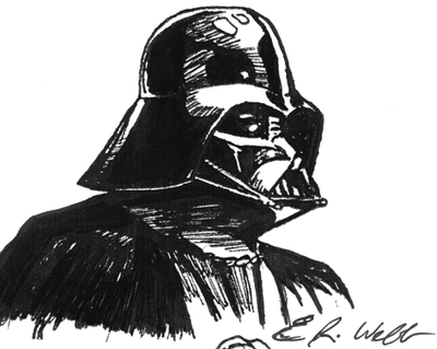 Darth Vader a Pen Sketch by erwebb on DeviantArt