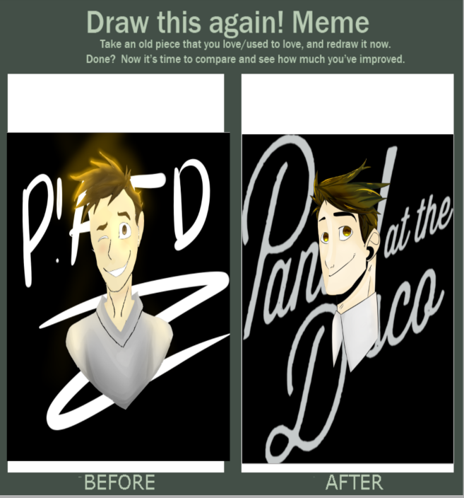 Draw this again! Meme (Brendon Urie// P!ATD) by wanderover65902