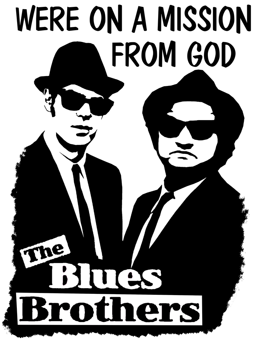BLues BRothers T-shirt Design by rocker409