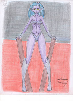 Female alien girl
