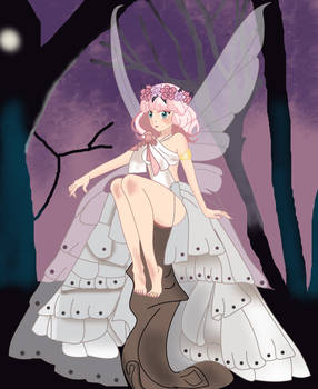 Cute fairy on forest