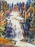 abstract waterfall spanish bridge