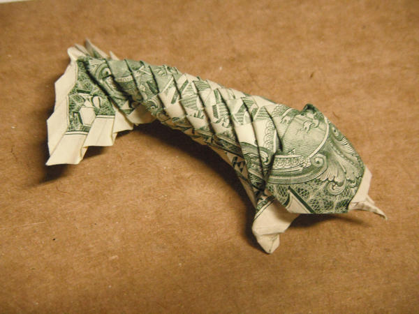 Dollar bill koi by small happy crane on deviantart for Dollar bill koi