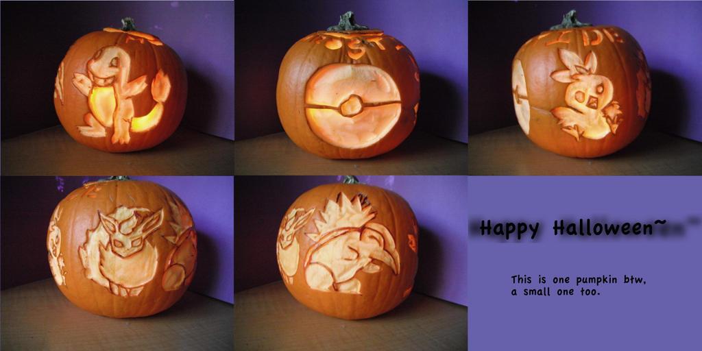 Pumpkin Pokemon by small-happy-crane