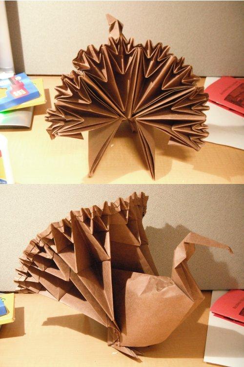 Origami Turkey by small-happy-crane on DeviantArt