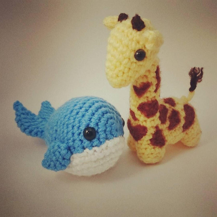 Amigurumi Whale : Amigurumi Whale and Giraffe by small-happy-crane on DeviantArt