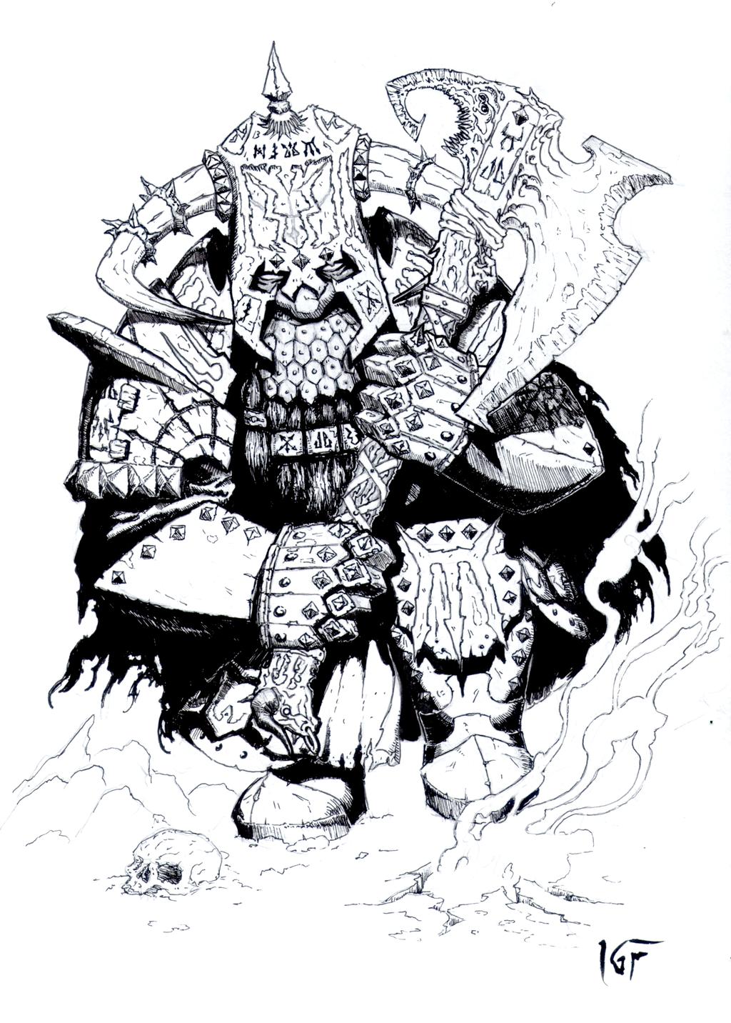 PNJ de la Prophétesse  Chaos_dwarf_immortal__2013__by_knightinflames-d6pyg10