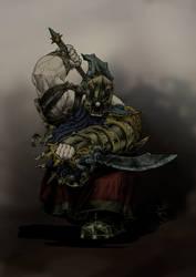 Chaos Dwarf Zealot Berzerker (base color scheme) by KnightInFlames