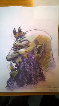 Chaos Dwarf head study