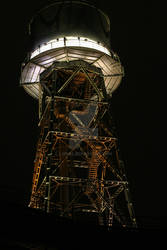 lit up tower
