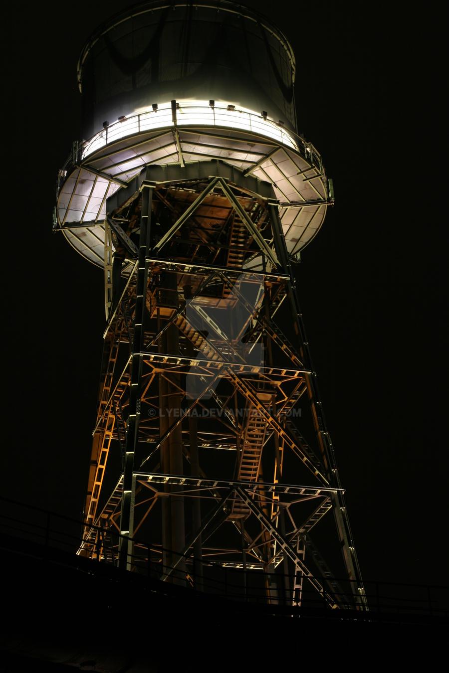 lit up tower by lyenia