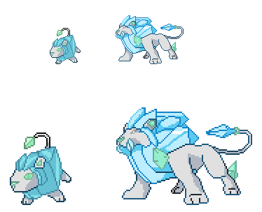 Cubeo and Leozone Sprites by JynxedOnes