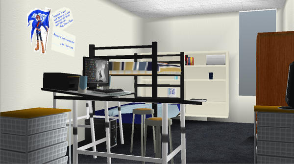 3D Modeling for Games HW My Dorm by VyseRogueKing