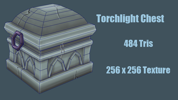 3D Modeling for Games HW Torchlight Chest by VyseRogueKing