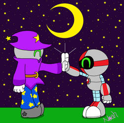 Robo High Five by DreamingWizard2000