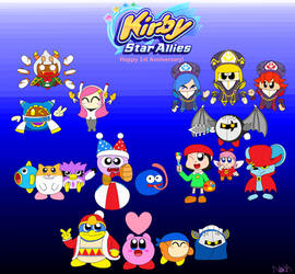 Kirby Star Allies 1st Anniversary by DreamingWizard2000