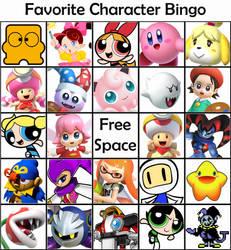 My Favorite Character Bingo by DreamingWizard2000