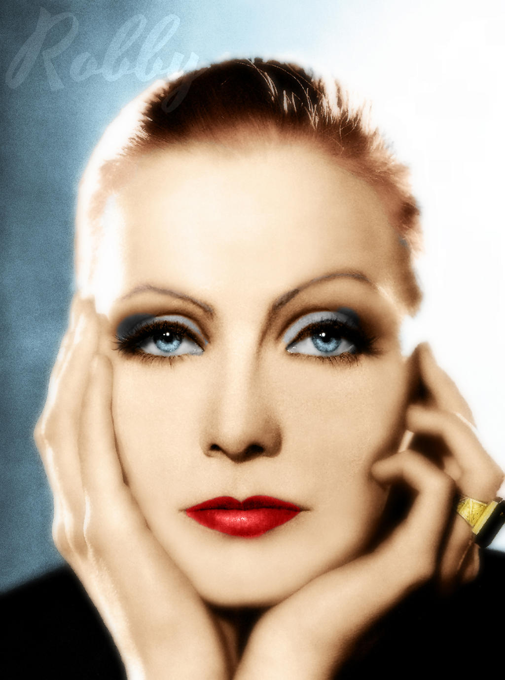 Greta Garbo by Robsiej