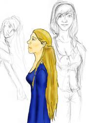 Viking princess and sketches