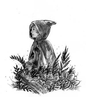 Inktober #20 - Tread - Little Red Riding Hood