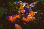 Gnar cosplay from League of Legends