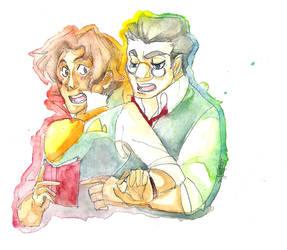 Luca and Balzac by Leafirefly