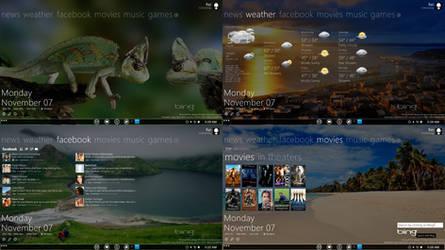 bing+wp7 Rainmeter Preview