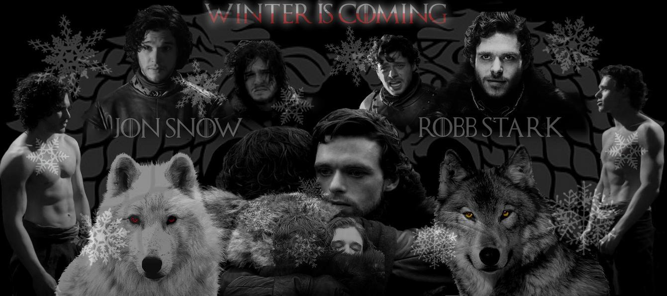 Robb Stark and Jon Snow Wallpaper by XxAlexNightfirexX