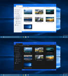 Windows 10 File Explorer Dark - Light Mode Concept