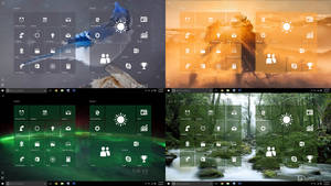 Windows 10 Start Screen Transparent Tiles