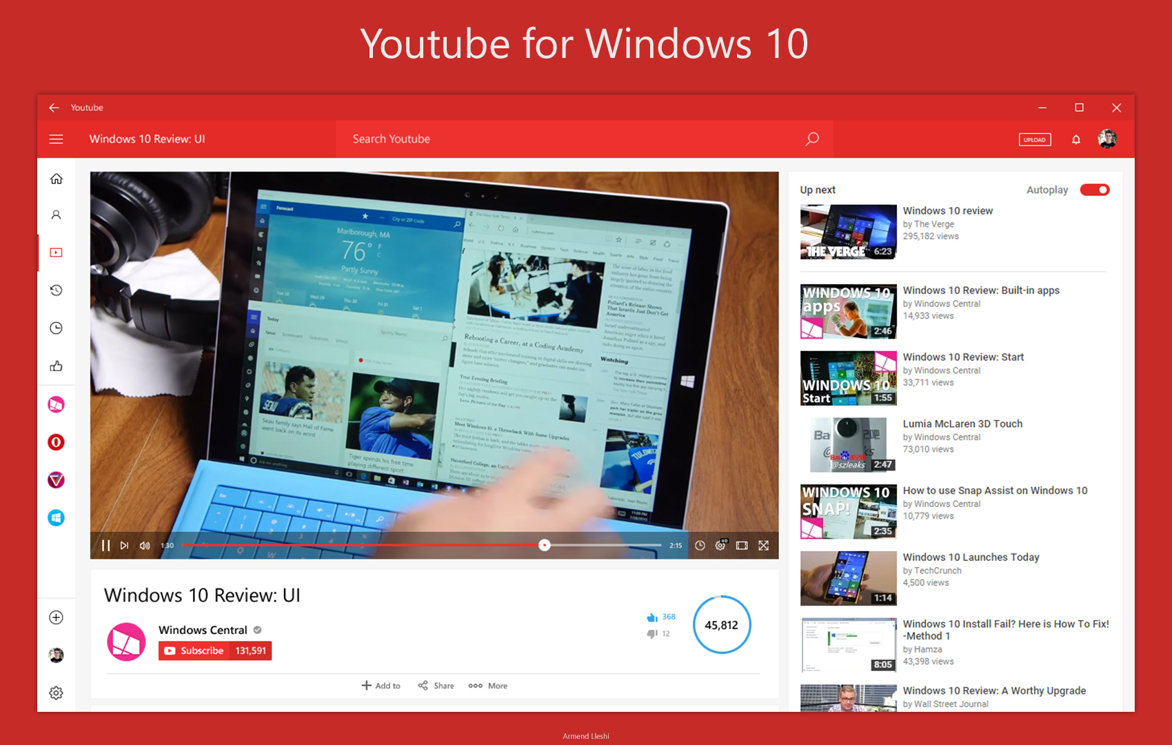 Youtube App For Windows 10 Light Theme Concept By Armend07 On Deviantart