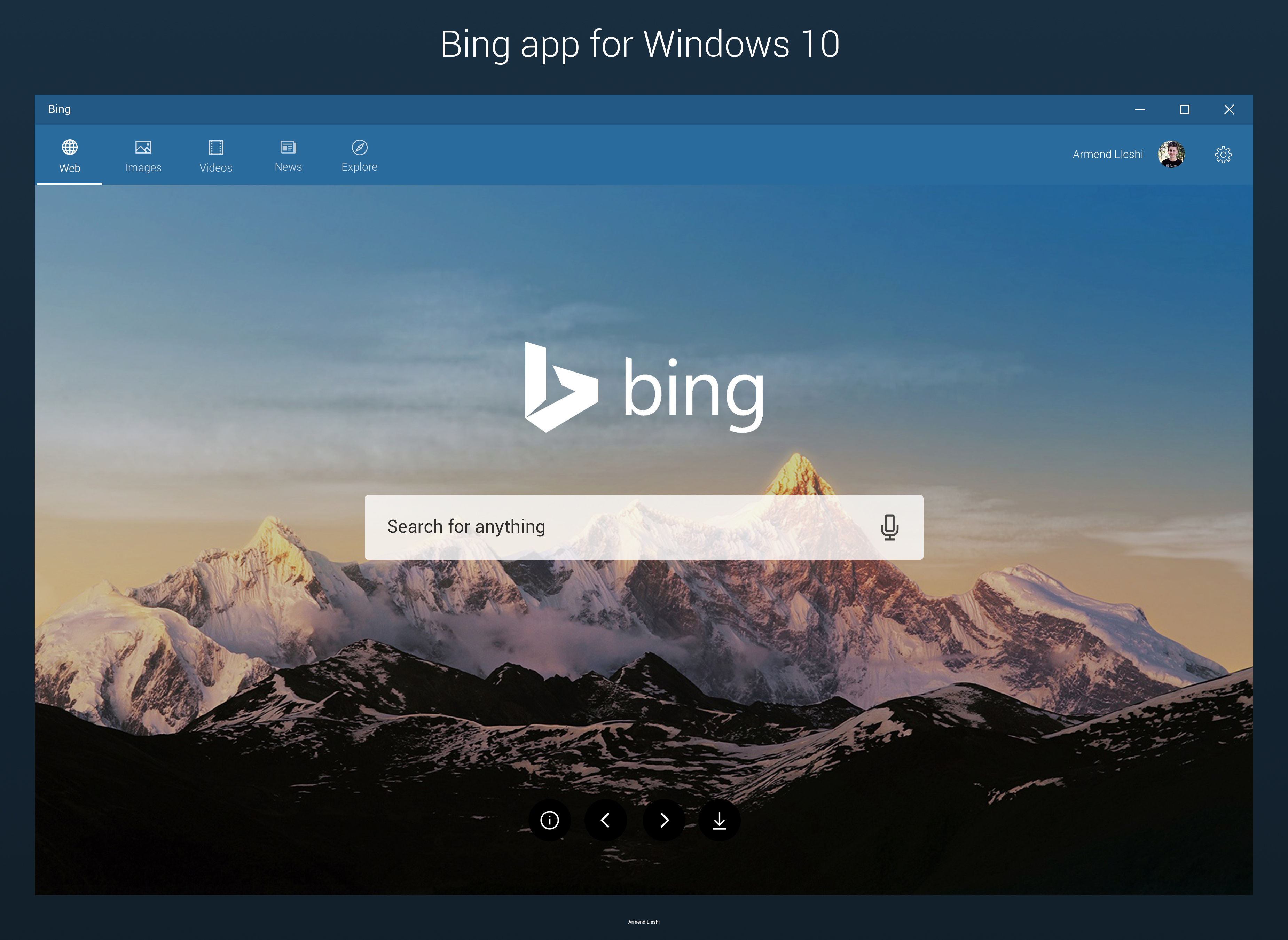 Bing app for Windows 10 - Concept by armend07 on DeviantArt