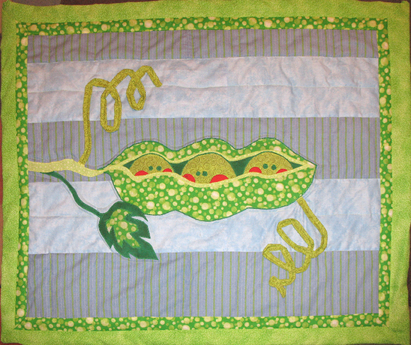 Colormist's Peapod quilt by CyberSunbeam