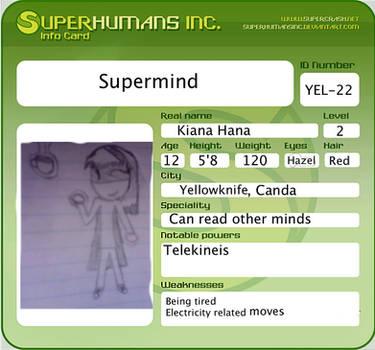 Supermind ID Card by Erygirl555