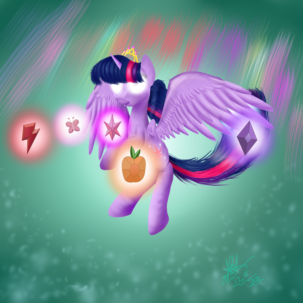 Princess Twilight Sparkle And Elements Of Harmony By