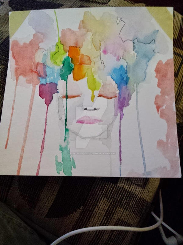 Watercolour attempt #1 by CallicaParis